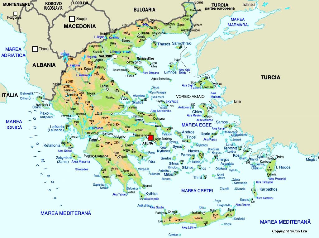 Harta Grecia Drapel Grecia Statistica Grecia Harti Statele