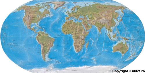 Harta Lumii, dati click pentru a vedea harta in versiunea mare, cu toate detaliile