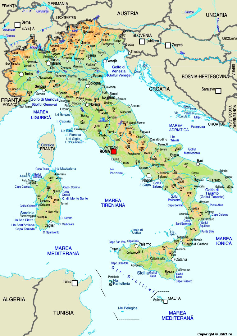Harta Italia Drapel Italia Statistica Italia Harti Statele