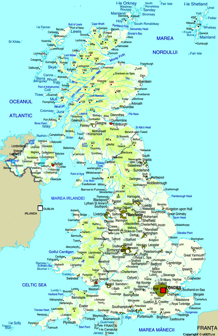 Harta Marea Britanie Drapel Marea Britanie Statistica Harti
