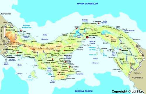 Harta Panama Drapel Panama Statistica Panama Harti Statele