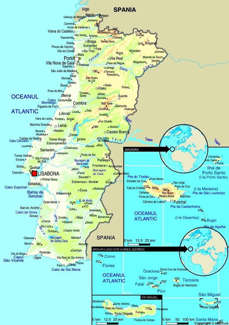 Harta Portugalia Drapel Portugalia Statistica Portugalia Harti