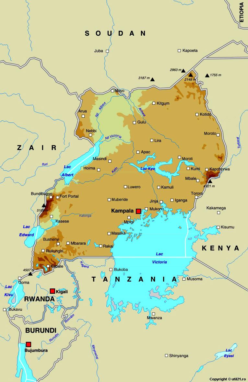 Harta Uganda Drapel Uganda Statistica Uganda Harti